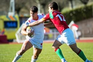 Jérémy To'a a gravi toutes les étapes avec l'Équipe nationale suisse, des U18, avec lesquels il a disputé un championnat d'Europe à Zagreb aux U20, puis découvrant la sélection élite, tant avec l'équipe de rugby à 7 qu'avec le XV de l'Edelweiss dès la fin d'année 2017. © leMultimedia.info / Oreste Di Cristino [Nyon]
