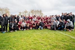Le Servette Rugby Club est fort d'un nouveau succès. Après la promotion en Fédérale 3, l'heure est à la fête. © leMultimedia.info / Oreste Di Cristino [Rillieux-la-Pape]