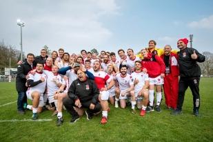 Le groupe suisse fête, au terme de la partie, sa troisième place au classement de l'Europe Trophy. © leMultimedia.info / Oreste Di Cristino [Schaffhouse]