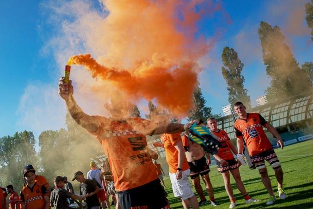 Depuis la création de la FSR et la première édition de la Coupe de Suisse – remplaçant la Coupe Jaquier qui avait vu triompher Stade Lausanne en juin 1970 –, jamais un club de seconde division nationale n'était parvenu à remporter le titre dans un format certes nettement plus abordable que le championnat majeur. Le RC Avusy, promu cet été en LNA, devient ainsi le premier club de l'escadron inférieur à rompre une tradition vieille de 48 ans. © leMultimedia.info / Oreste Di Cristino [Lausanne]