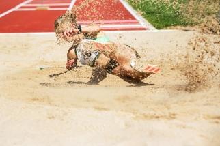 Michèle Garlinski fait partie de ces athlètes qui s'épanouissent dans (une forme très concrète mais porteuse) d'humilité. C'en est remarquable. © leMultimedia.info / Oreste Di Cristino [Bâle]