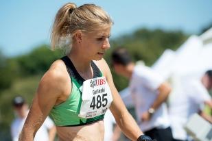 Bien loin – à 40 centimètres – des minimas mondiaux pour Doha (Qatar), Michèle Garlinski reste, à ce jour, la deuxième meilleure performeuse suisse de tous les temps. © leMultimedia.info / Oreste Di Cristino [Bâle]